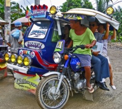 overloaded tricycle